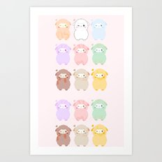 Pat animal Art Print
