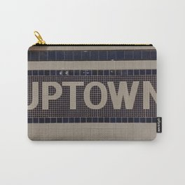 Uptown subway sign- New York City VI Carry-All Pouch