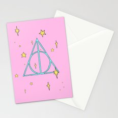 Harry potter // pastel deathly hallows Stationery Cards