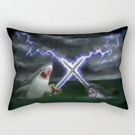 Shark vs. Narwhal  Rectangular Pillow
