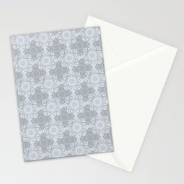Lace Inspired Elegant Pattern - Grey Stationery Cards