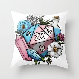 Pride Transgender D20 Tabletop RPG Gaming Dice Throw Pillow