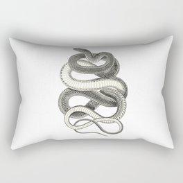 snake vintage style print serpent black and white 1800's Rectangular Pillow