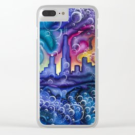 Chicago Bubbles Clear iPhone Case