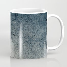 Geometric Grunge Blue - Gray Vertical Black Stripes Polka Dots Illustration Coffee Mug