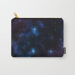 Galaxy sky space of planet earth with stars and meteors graphic design.  Carry-All Pouch