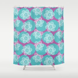 Swirly Flowers Shower Curtain