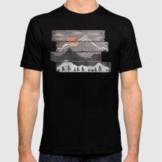 Into the Grey... Mens Fitted Tee MEDIUM Black