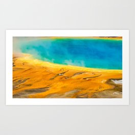Nature Abstract Grand Prismatic Spring Yellowstone Art Print