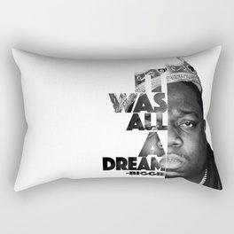 Urban Biggie Smalls Lyrics/Text Font Rectangular Pillow