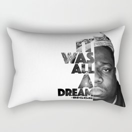 Urban Biggie Smalls Lyrics/Text Font Rectangular Pillow