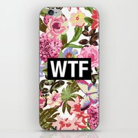 2pac iPhone & iPod Skins featuring WTF by Text Guy