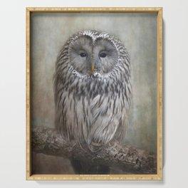 Ural Owl ( Grey owl ) Serving Tray