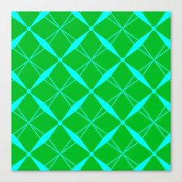Aqua Diamond Canvas Print