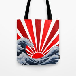 Great Wave of the Rising Sun Tote Bag