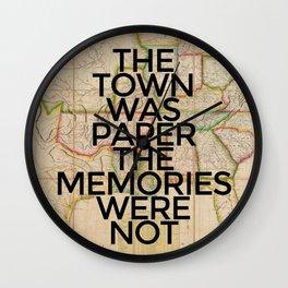 The Memories Were Not Wall Clock