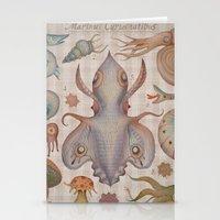 Stationery Cards featuring Marine Curiosities III by Vladimir Stankovic
