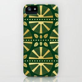Emerald & Gold Art Deco Fan iPhone Case