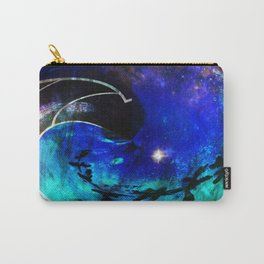 Down The Wormhole Abstract Carry-All Pouch
