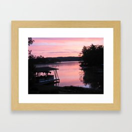 Pink Sunset Framed Art Print