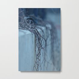 Blue Vines Metal Print