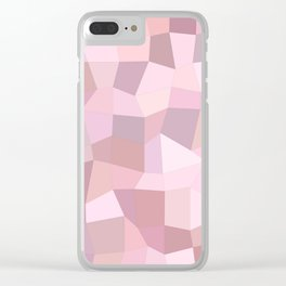 Pastel Pink Mosaic Clear iPhone Case