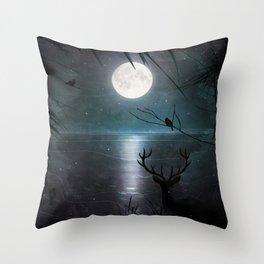 Deep inside the forest Throw Pillow