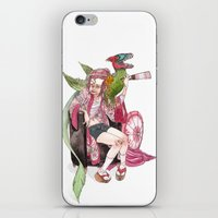 bouletcorp iPhone & iPod Skins featuring Geisha Rose by Bouletcorp