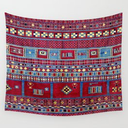 Tunisian Flatweave Antique Tribal Rug Wall Tapestry