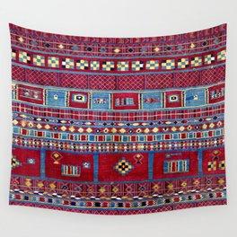 Tunisian Flatweave Antique Tribal Rug Print Wall Tapestry
