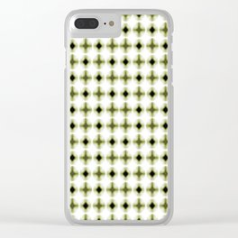 Blurred Circles In Greens Clear iPhone Case