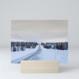 Icy Road in Finland Mini Art Print