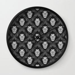Skull with floral ornament Wall Clock