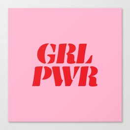 Girl Power GRL PWR Canvas Print