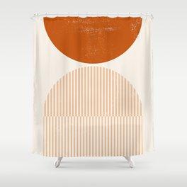 Mid century modern, mid-century wall art, print, geometric wall art, abstract wall art, interior, ma Shower Curtain