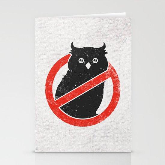 No Owls Stationery Cards