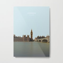 London, England Travel Artwork Metal Print