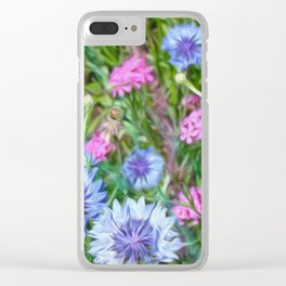 Cornflower Party Clear iPhone Case