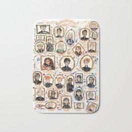 Dumbledore's Army portrait wall Bath Mat