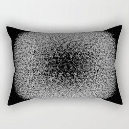 Abstract scribble circle banner. Rectangular Pillow