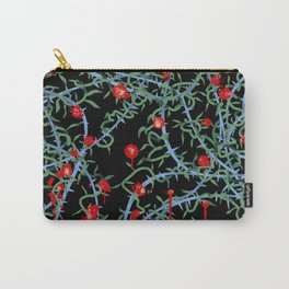 Rose with Barbed Wire Carry-All Pouch