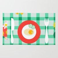 breakfast Area & Throw Rugs featuring breakfast by vitamin