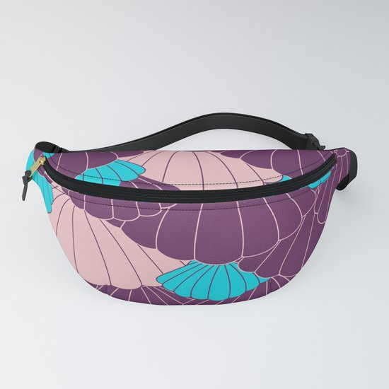 Scallop Abstract - Purple, Pink, Blue by mellowcat
