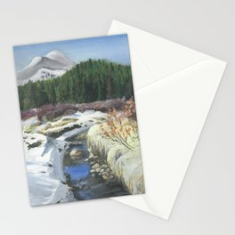 Colorado Landscape Mountain Stream Stationery Cards