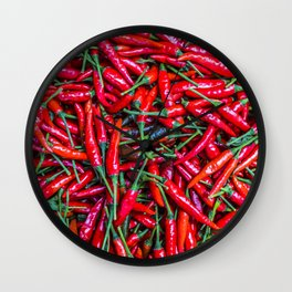 Red paprica Wall Clock