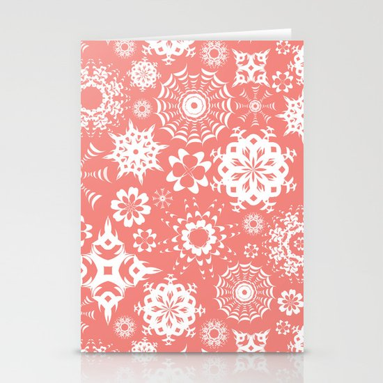 Dia en rosa Stationery Cards
