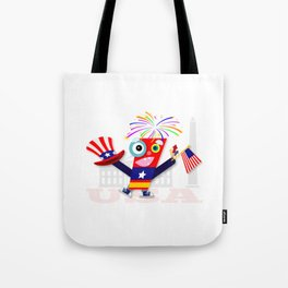 Patriotic Fourth of July Firecracker Tote Bag