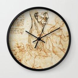 Sketches by Leonardo Da Vinci Wall Clock