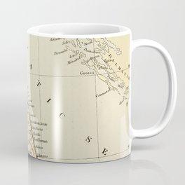 Retro & Vintage Map of Northern Italy Coffee Mug
