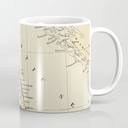 Retro & Vintage Map of Northern Italy Coffee Mug